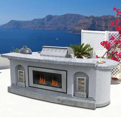 Cal Flame Master Chef Hearth Patio Barbecue Island
